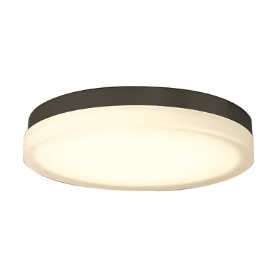 Clack 1-Light Flush Mount Finish: Bronze