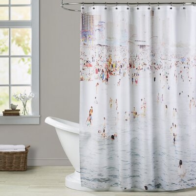 Mina Teslaru Coney Island August Shower Curtain