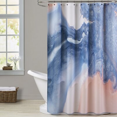 Deb McNaughton Marble Squiggle Shower Curtain
