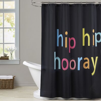 Ashlee Rae Hip Hip Hooray Print Shower Curtain