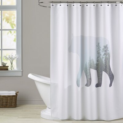 Melinda Wood Winter Bear Shower Curtain