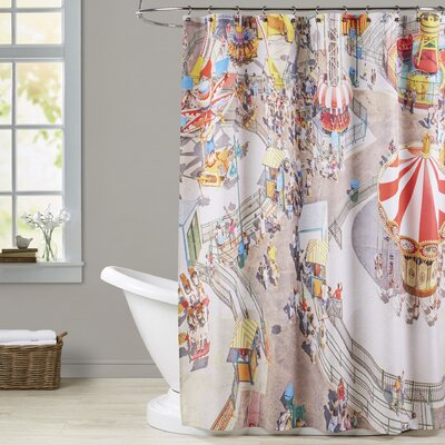 Mina Teslaru Aerial Carnivale Shower Curtain