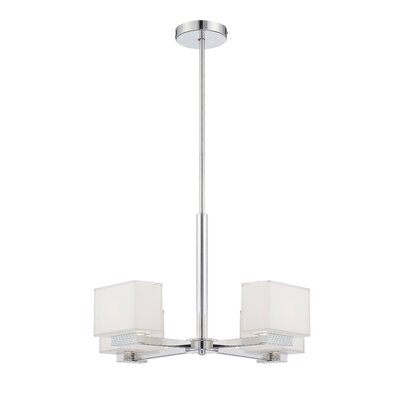 Chavarria 4-Light Shaded Chandelier Finish: Chrome