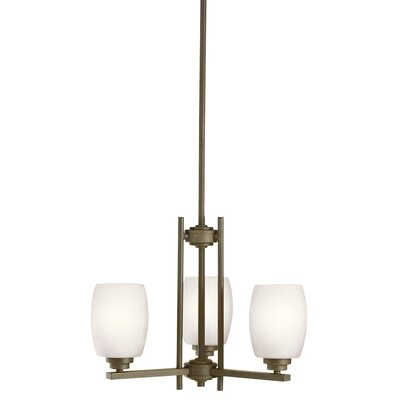 Esmont 3-Light Shaded Chandelier