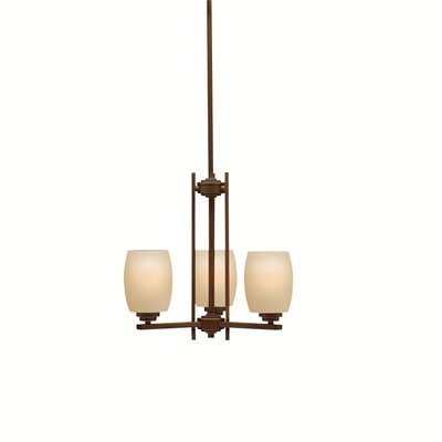 Esmont 3-Light Shaded Chandelier Finish: Old Bronze