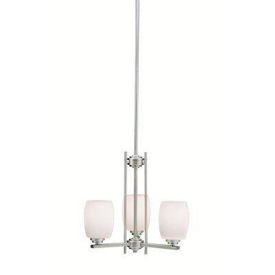 Esmont 3-Light Shaded Chandelier Finish: Brushed Nickel