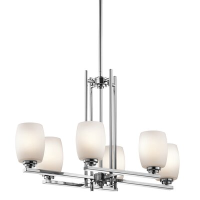 Esmont 6-Light Shaded Chandelier Finish: Chrome