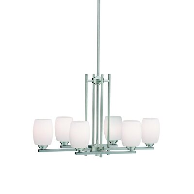 Esmont 6-Light Shaded Chandelier Finish: Brushed Nickel