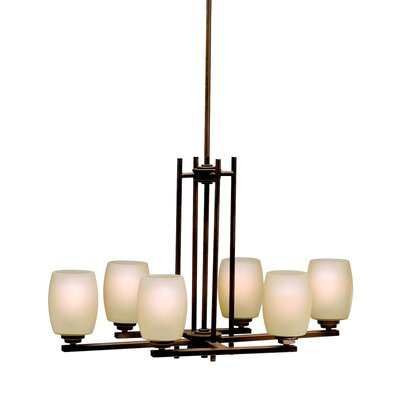 Esmont 6-Light Shaded Chandelier Finish: Old Bronze