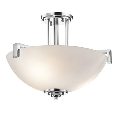 Esmont 3-Light Pendant /Semi Flush Finish: Chrome