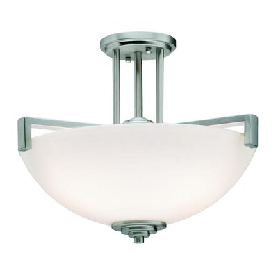 Esmont 3-Light Pendant /Semi Flush Finish: Brushed Nickel