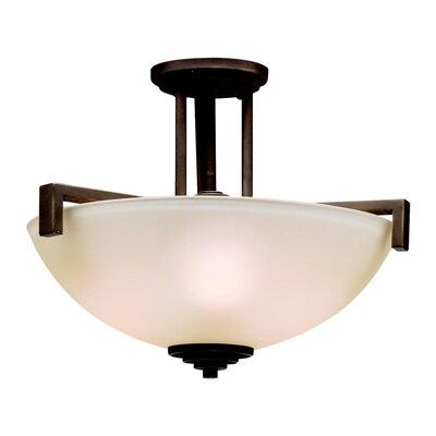 Esmont 3-Light Pendant /Semi Flush Finish: Old Bronze