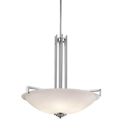 Esmont 4-Light Inverted Pendant Finish: Chrome
