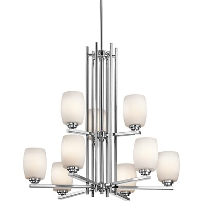 Esmont 9-Light Shaded Chandelier Finish: Chrome