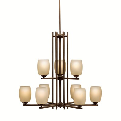Esmont 9-Light Shaded Chandelier Finish: Old Bronze
