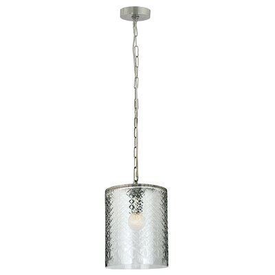 Euripides 1-Light Mini Pendant Size: 14 H x 9 W x 9 D