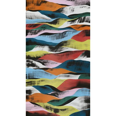 Colorful Ribbons Painting Print on Canvas