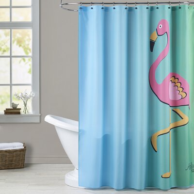 Ashlee Rae Flamingo Print Shower Curtain