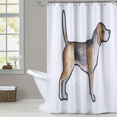 Widman Beagle Shower Curtain
