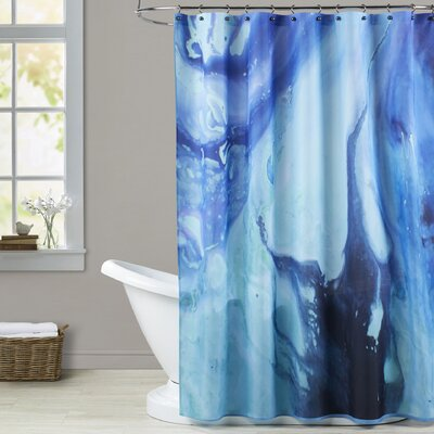 Deb McNaughton Dark Marble Shower Curtain