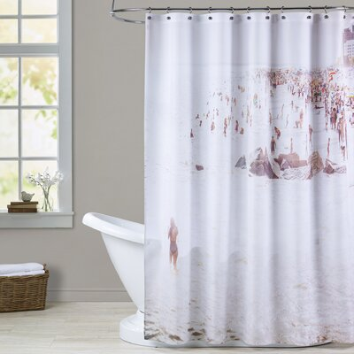 Mina Teslaru Coney Island Mermaid Shower Curtain