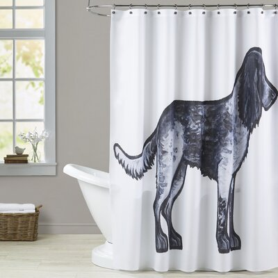 Eaves Cocker Blue Roan Shower Curtain