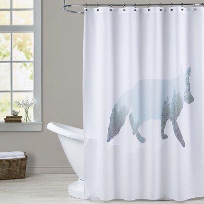Melinda Wood Fox Tree Shower Curtain