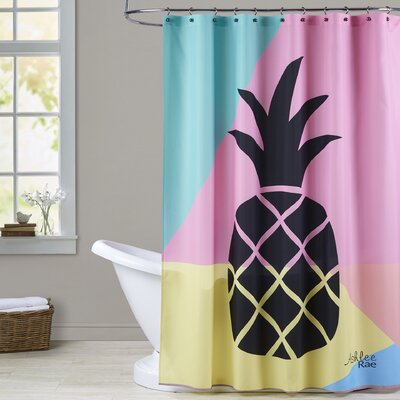 Ashlee Rae Pineapple Shower Curtain