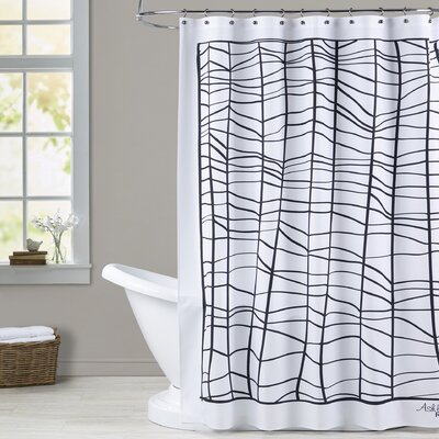 Ashlee Rae Web Print Shower Curtain