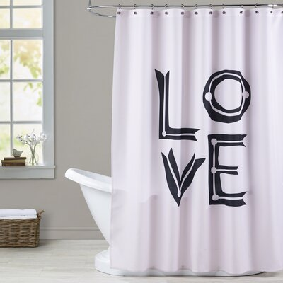 Brickley Love Sketch Shower Curtain