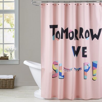 Ashlee Rae Tomorrow We Sleep Print Shower Curtain