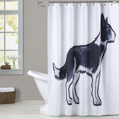 Deloera Border Collie Shower Curtain