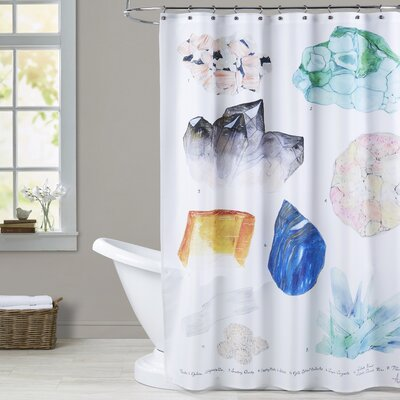 Surrett Crystal Specimen Chart 2 Shower Curtain