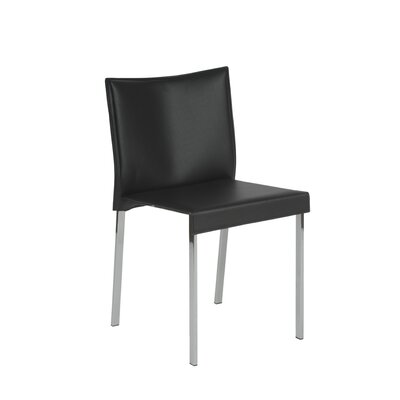 Pasquale Leather Chair Upholstery: Black