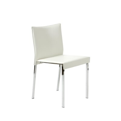 Pasquale Leather Chair Upholstery: White