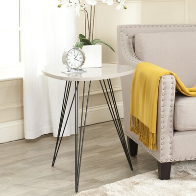 Motta End Table Color: Taupe Black