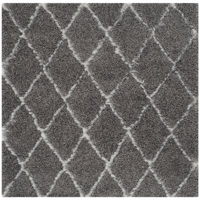 Armstead Grey/Ivory Geometric Contemporary Rug Rug Size: Square 5'