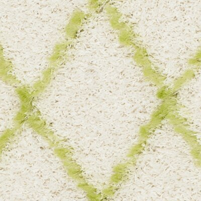 Armstead Ivory / Green Geometric Contemporary Area Rug Rug Size: 4' x 6'