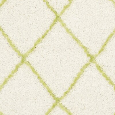 Armstead Ivory / Green Geometric Contemporary Area Rug Rug Size: 8'6
