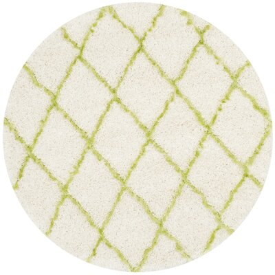 Armstead Ivory/Green Area Rug Rug Size: Rectangle 4 x 6