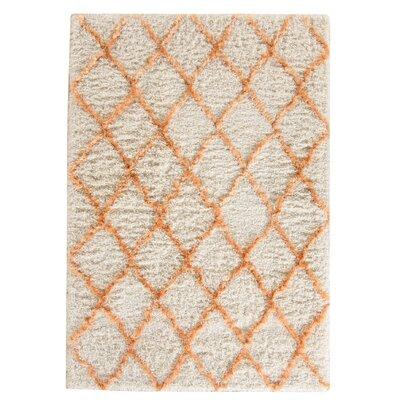 Armstead Ivory/Tangerine Geometric Area Rug