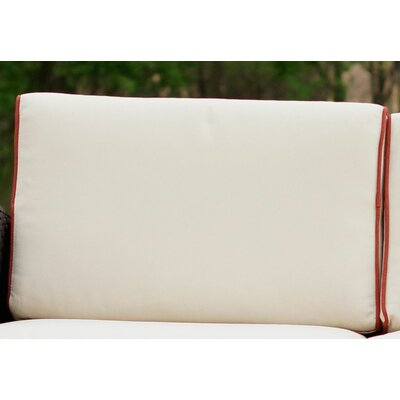 Loggins Outdoor Sofa Cushion Cover Set Color: Ivory
