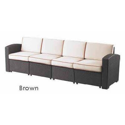 Loggins Sofa with Cushions Color: Ivory