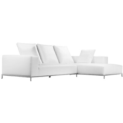 Lakehurst Modern Sectional Orientation: Right Hand Facing, Upholstery: White