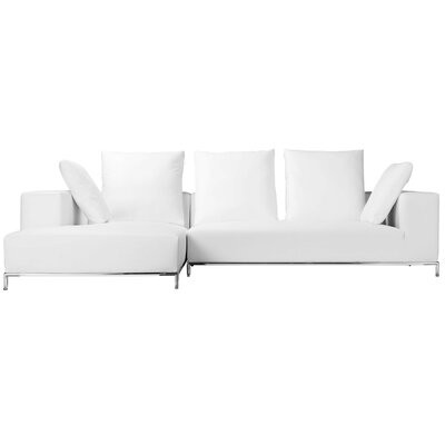 Lakehurst Modern Sectional Orientation: Left Hand Facing, Upholstery: White