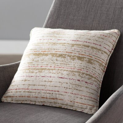Lamborn Outdoor Throw Pillow Size: 16 H x 16 W x 4 D, Color: Poppy/Ivory