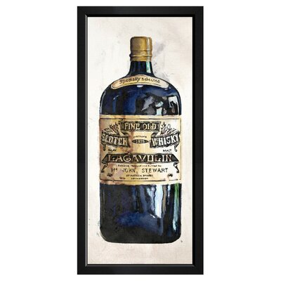 'Fine Old Whiskey' Framed Painting Print