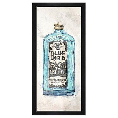 'Blue Bird Gin' Framed Painting Print