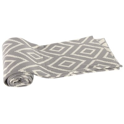 Dempster Cotton Throw Blanket Color: Gray