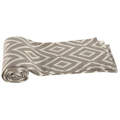 Dempster Cotton Throw Blanket Color: Brown